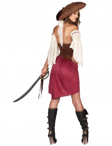 Déguisement pirate bordeaux sexy femme-2