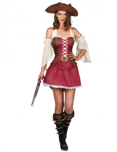 Déguisement pirate bordeaux sexy femme