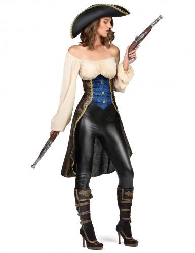 Déguisement pirate marron femme-1