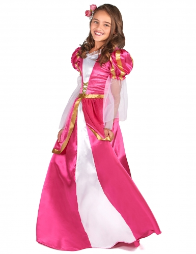 Déguisement princesse médiévale rose fille-1