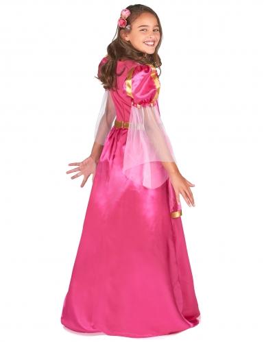Déguisement princesse médiévale rose fille-2