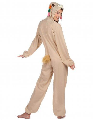 Déguisement combinaison à capuche lama femme-2