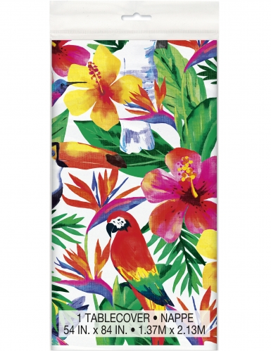Nappe en plastique Palm Tropical Luau 137 x 213 cm