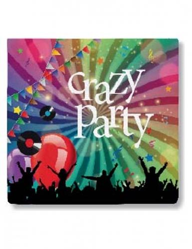 20 Serviettes en papier Crazy Party 33 x 33 cm