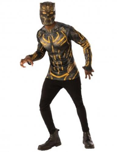 T-shirt et masque Erik Killmonger™ Black Panther™ adulte