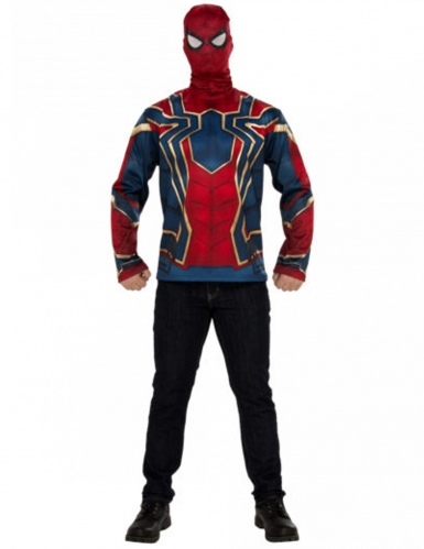 T-shirt et masque Iron spider Infinity War™ adulte