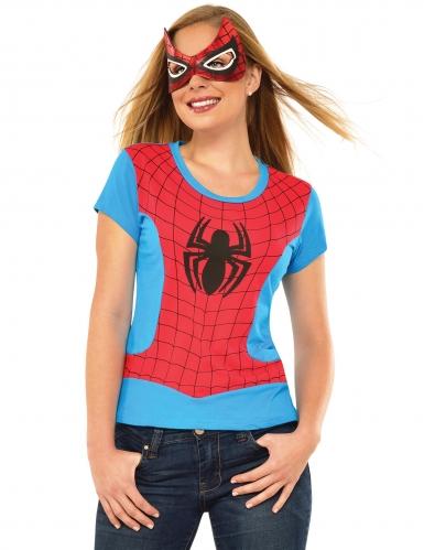 T-shirt et masque Spider-girl™ femme