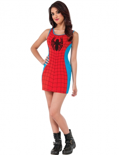 Déguisement robe rouge et bleue Spider-Girl™ femme