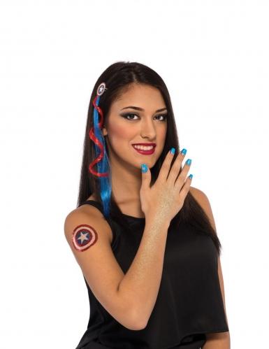 Kit accessoires et maquillage Captain America™ femme