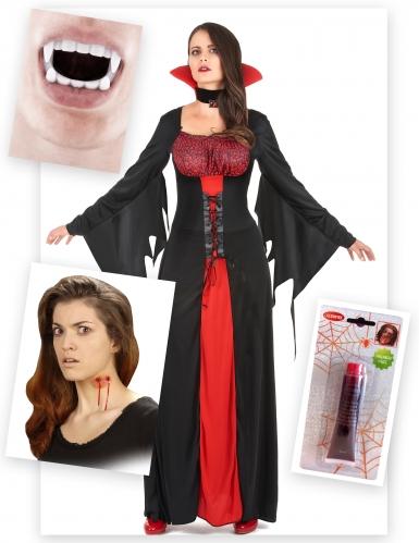 Pack déguisement vampire sanglante femme
