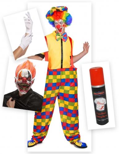 Pack déguisement clown terrifiant Halloween