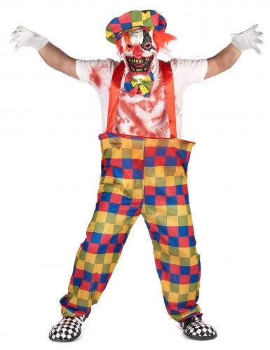 Pack déguisement clown terrifiant Halloween-1