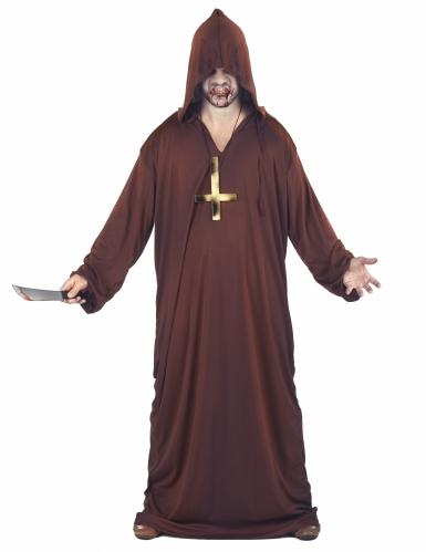 Pack déguisement moine zombie Halloween-1
