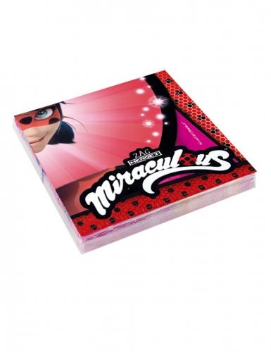20 serviettes en papier Ladybug Miraculous™ 33 x 33 cm
