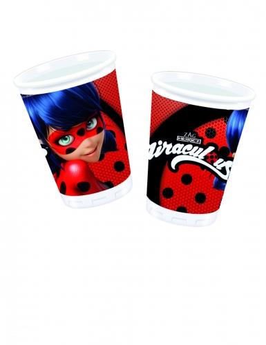 8 Gobelets en plastique Ladybug™ 200 ml