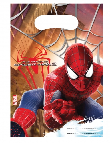 6 Sacs de fête The Amazing Spiderman™ 17 X 23 cm