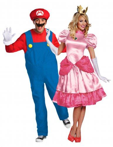 Déguisement de couple Peach™ et Mario™