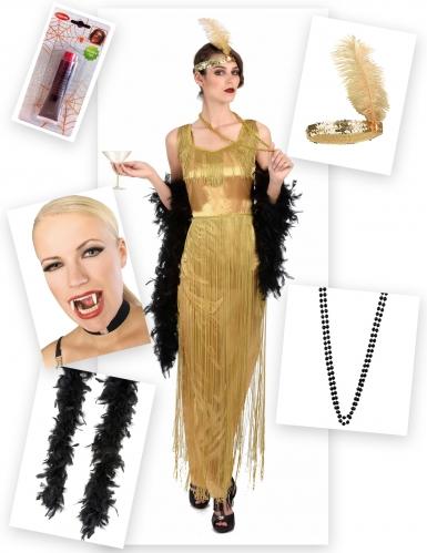 Pack déguisement Charleston vampire femme-1