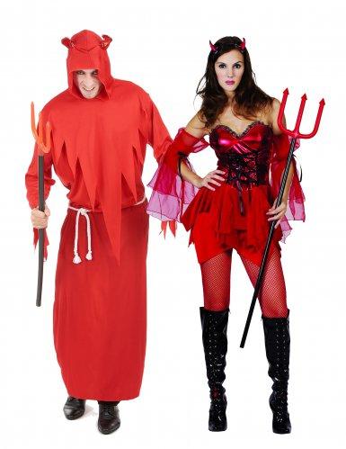 Déguisement de couple diable adultes Halloween