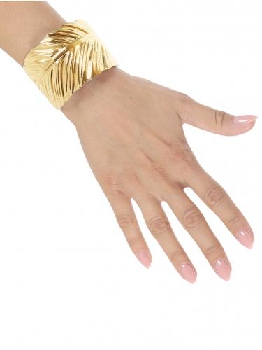 Bracelet feuilles d'or adulte