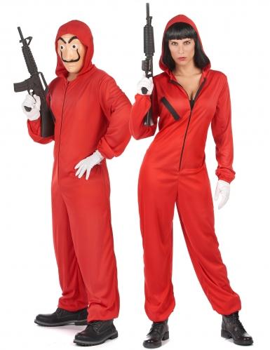 Déguisement de couple rouge voleur