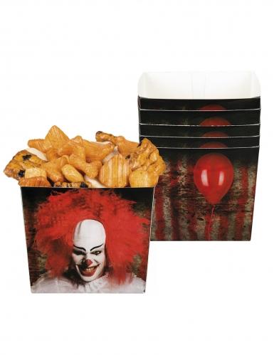 6 Bols en carton Clown terrifiant 40 cl