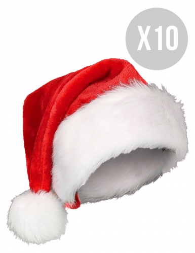 Pack 10 bonnets de Noël adulte