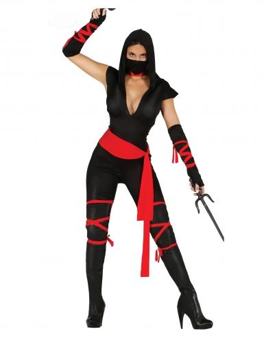 Déguisement ninja sexy combinaison femme