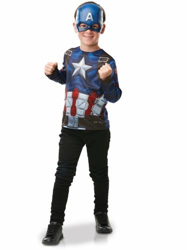 T-shirt avec masque Captain America™ enfant-1