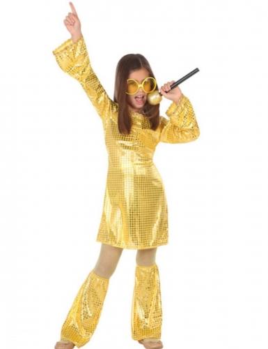 Déguisement disco gold fille