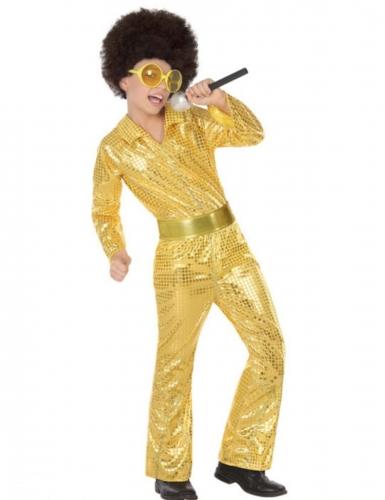 Déguisement disco gold garçon