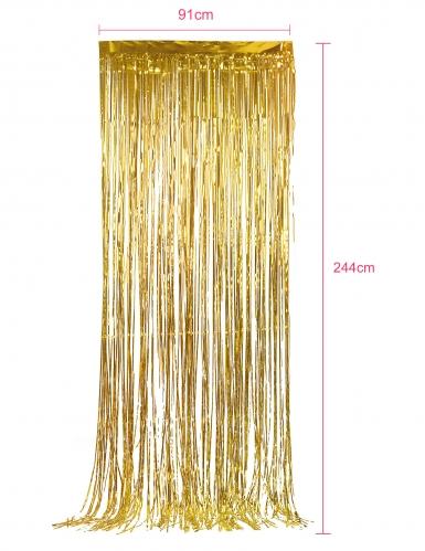 Pack de 5 rideaux scintillants dorés-2