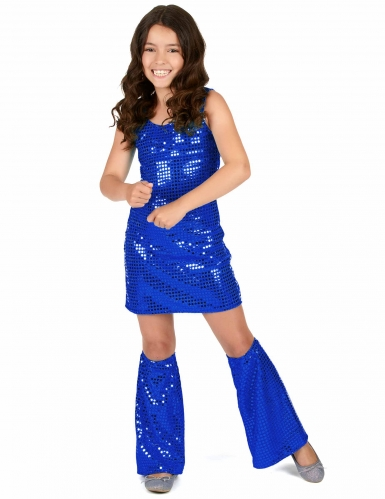 Déguisement Disco bleu nuit Fille-1