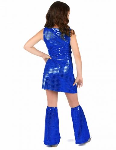 Déguisement Disco bleu nuit Fille-2