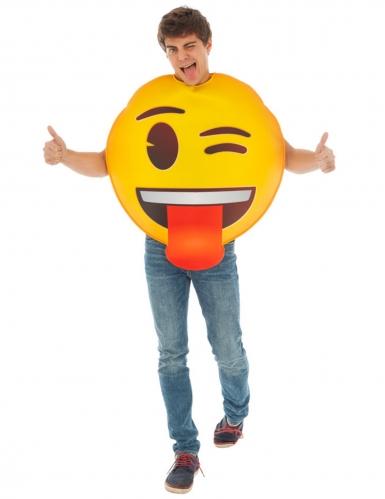 Déguisement Emoji clin d'oeil™ adulte