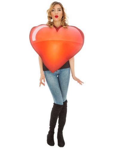 Déguisement Emoji coeur™ adulte