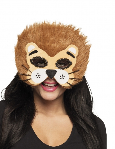 Demi masque lion adulte