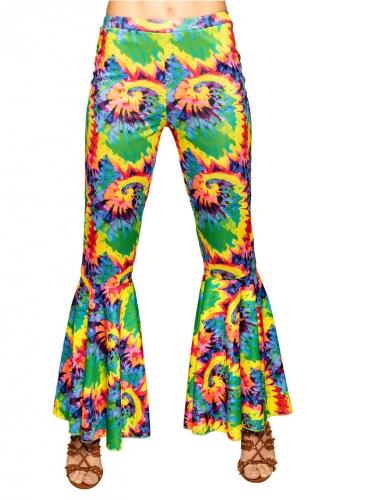 Pantalon pattes d'éléphant hippie adulte-1