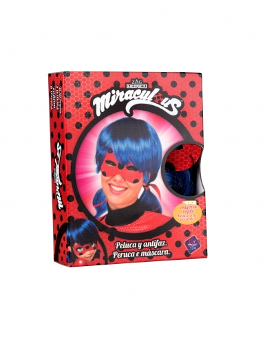 Coffret perruque et masque Ladybug™ adulte-1
