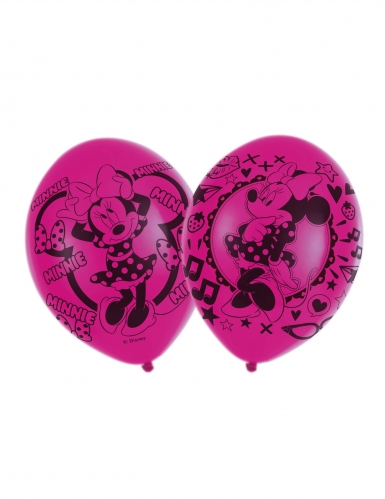 6 Ballons en latex Minnie Mouse™ 27,5 cm