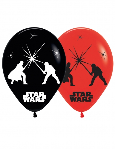 5 Ballons en latex LED Star Wars™ 28 cm
