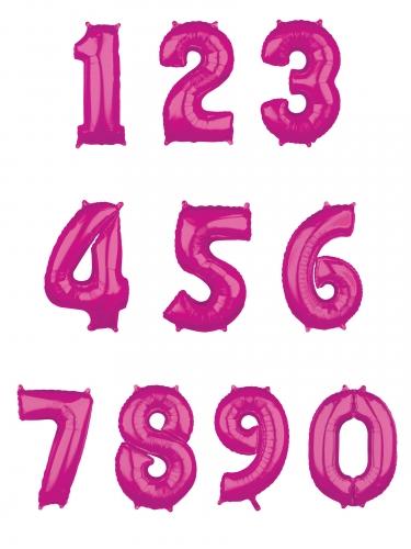Ballon aluminium chiffre fuchsia 43 x 66 cm-1
