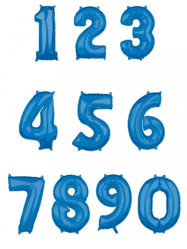 Ballon aluminium chiffre bleu 43 x 66 cm-1