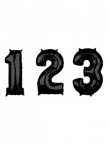 Ballon aluminium chiffre noir 43 x 66 cm