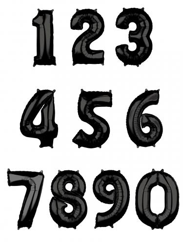 Ballon aluminium chiffre noir 43 x 66 cm-1