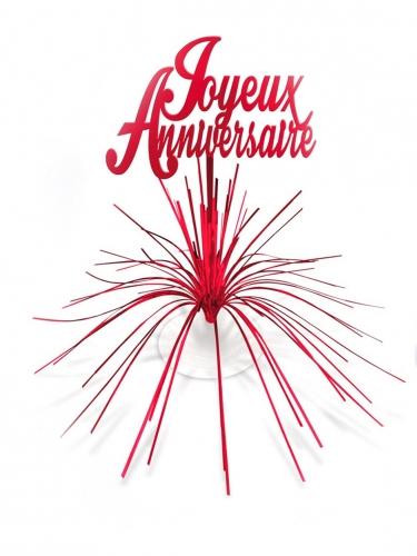Centre de table Joyeux Anniversaire rouge
