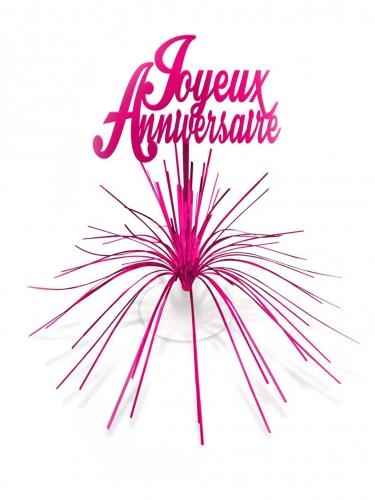 Centre de table Joyeux Anniversaire rose
