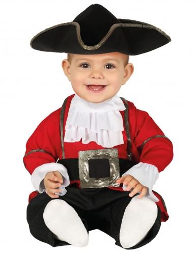 Déguisement combinaison pirate rouge bébé