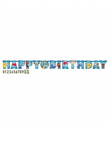 Guirlande Happy Birthday Pokémon Core™ 3,2 m x 14 cm
