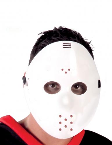 Masque de hockey blanc adulte